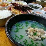 釜山 南浦洞ソムガンジンでシジミスープ定食のがっつり朝食