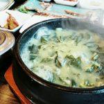 釜山のワカメスープ専門店「カヨンジャン」で美味しい朝食